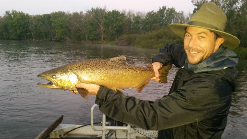 All tackle fisherman fishing outfitter salmon season all for Manistee fishing report