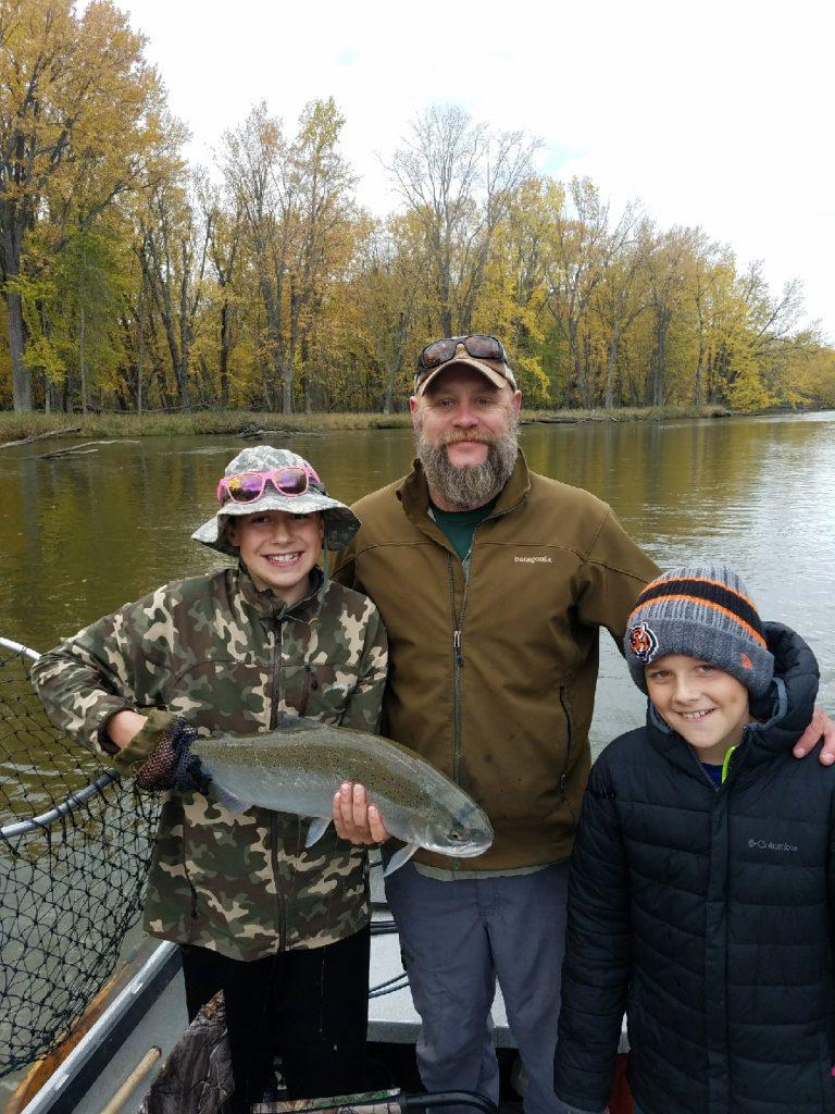 Big Manistee River fishing steelhead October 2017